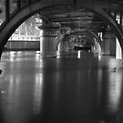 Under the Bridge B&W by Karina Walther