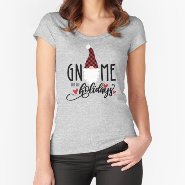 Gnome for the Holidays Fitted Scoop T-Shirt