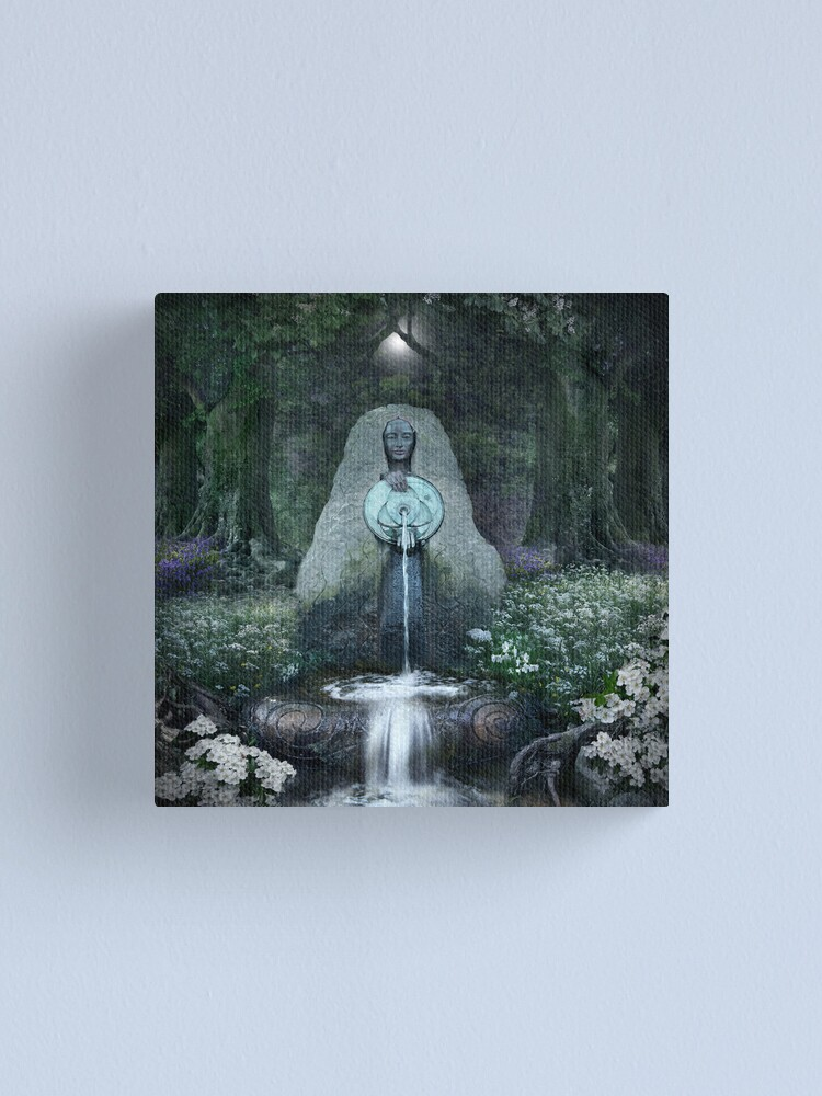 Alternate view of Beltane: Lady of the Sacred Well  Canvas Print