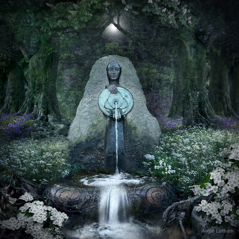 Quot Beltane Lady Of The Sacred Well Quot By Angie Latham