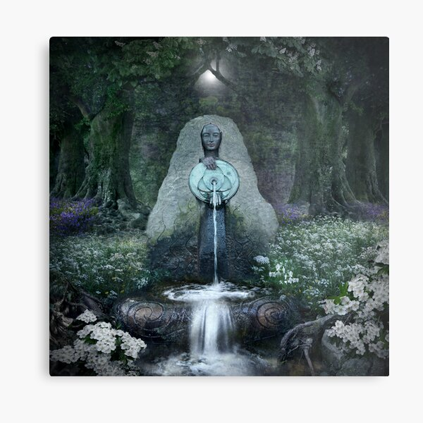 Beltane: Lady of the Sacred Well  Metal Print
