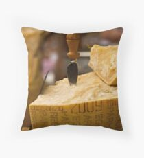 A slice of parmesan cheese Throw Pillow