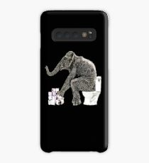 Elephant at the toilet, funny,  Case/Skin for Samsung Galaxy