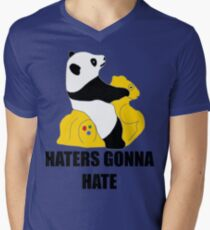 Haters Gonna Hate: Panda Men's V-Neck T-Shirt