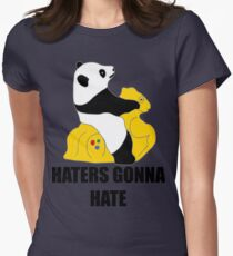Haters Gonna Hate: Panda Womens Fitted T-Shirt