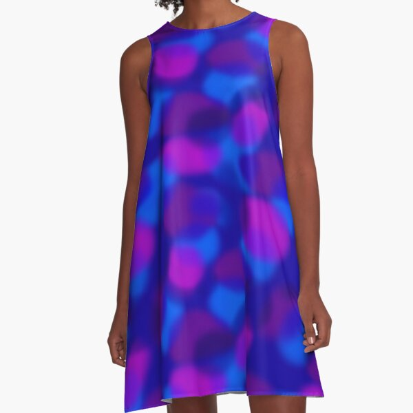 Colored Clouds A-Line Dress