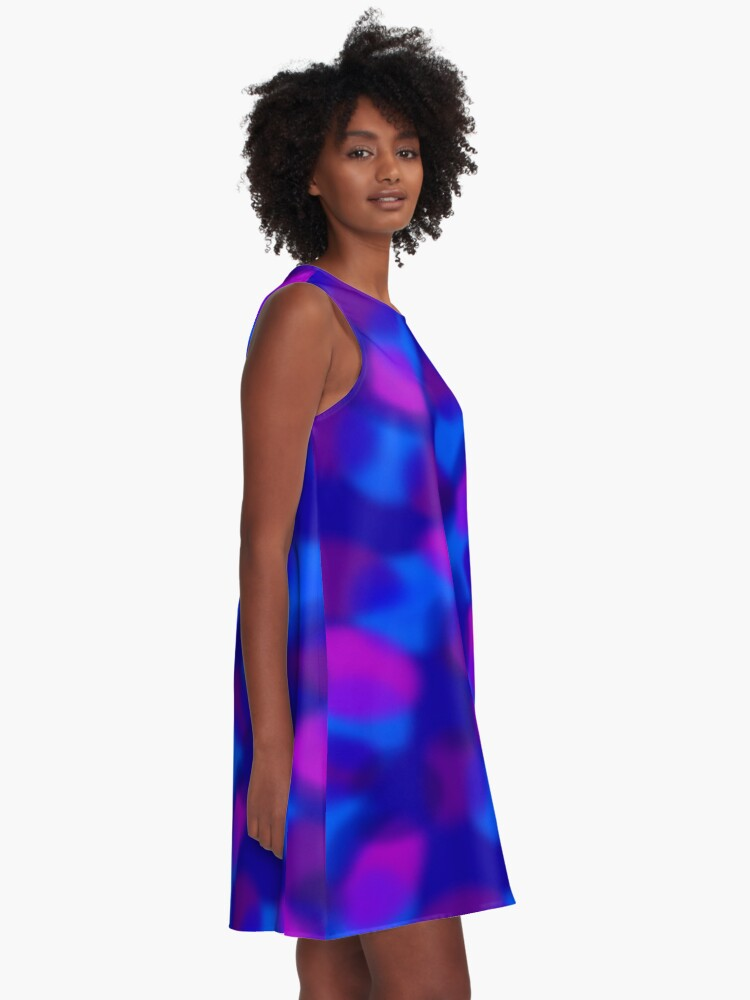 Alternate view of Colored Clouds A-Line Dress