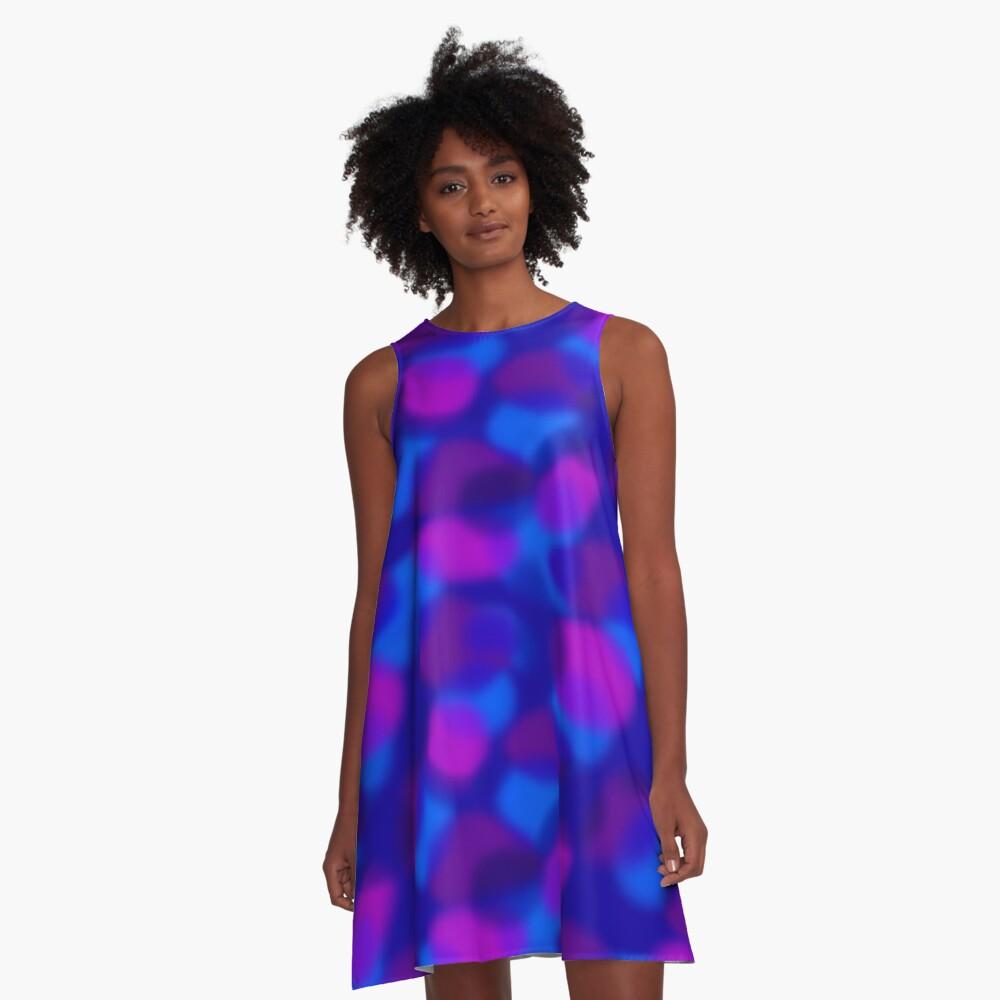 Colored Clouds A-Line Dress