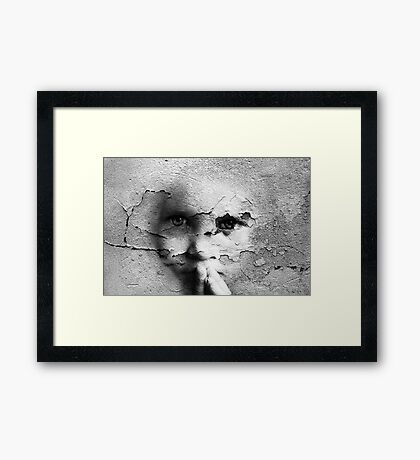 Talking To A Wall, Too Framed Print