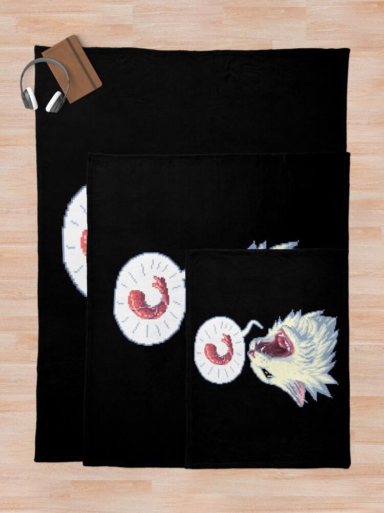 Alternate view of 8-bit Shrimpin' Thurston the cat Throw Blanket