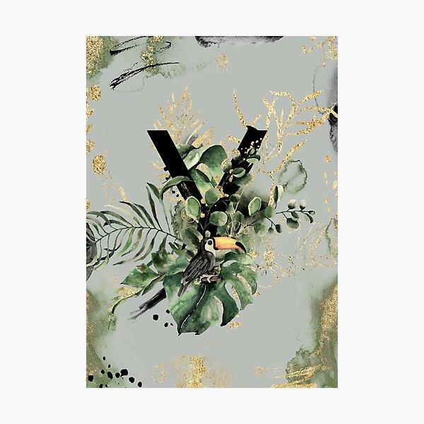 Tropical Rainforest Monogram Y Photographic Print