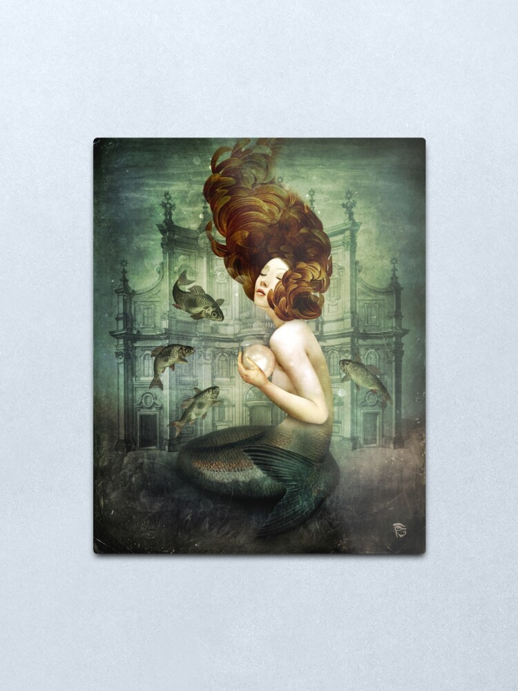 Alternate view of The Mermaid´s Pearl Metal Print