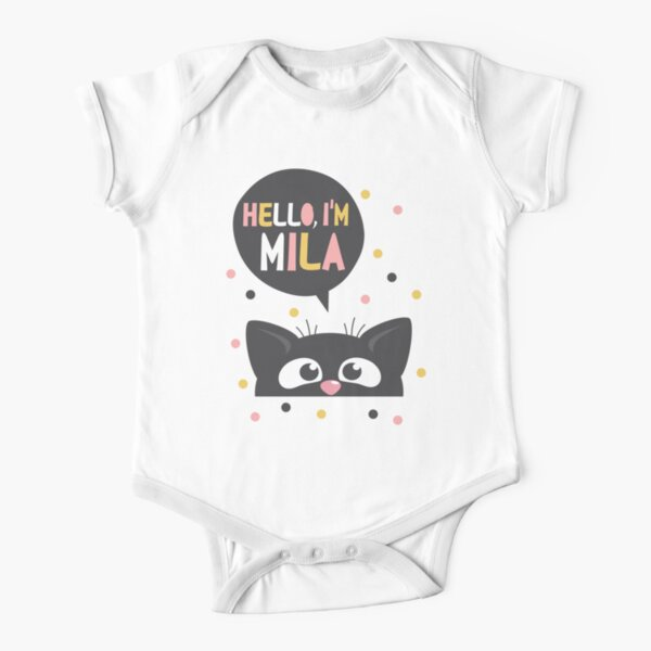 Personalized Name Toddler//Kids Short Sleeve T-Shirt Mashed Clothing Hi My Name is Jacob Everyone