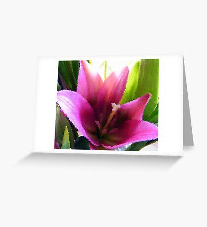 Impressionist Lily Greeting Card