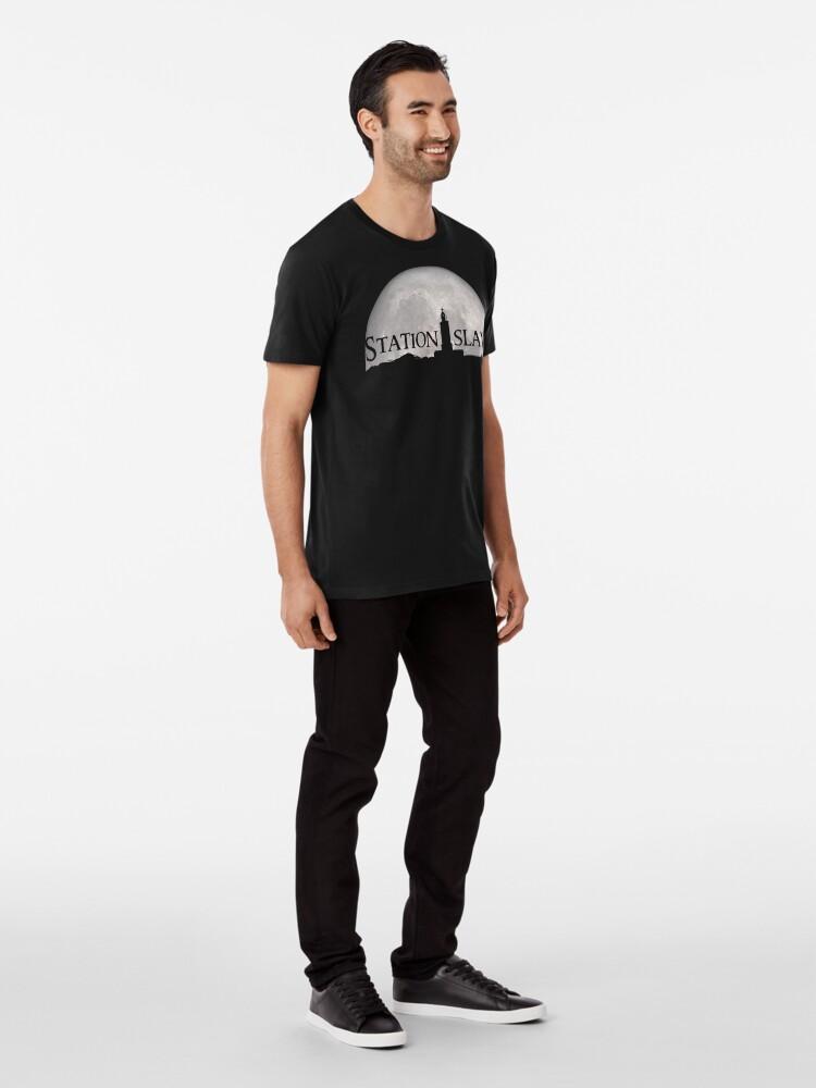 Alternate view of Station Island - Moon Design Premium T-Shirt