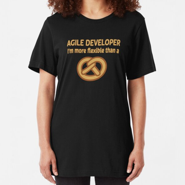 Agile Developer. Slim Fit T-Shirt