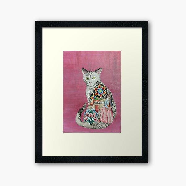 Land of the Morning Calm Cat Framed Art Print