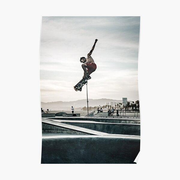 Venise Skatepark Skateboard impression planche à roulettes affiche photographie impression Venise plage Poster