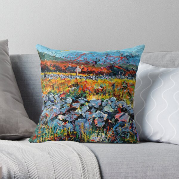 Stone Wall, Cottage Throw Pillow