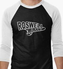 Roswell Grays Baseball Shirt White Logo Men's Baseball ¾ T-Shirt