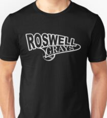 Roswell Grays Baseball Shirt White Logo Unisex T-Shirt