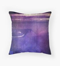 travel by monorail Throw Pillow