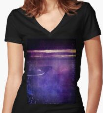 travel by monorail Fitted V-Neck T-Shirt