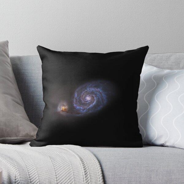 starless whirlpool nebula Throw Pillow