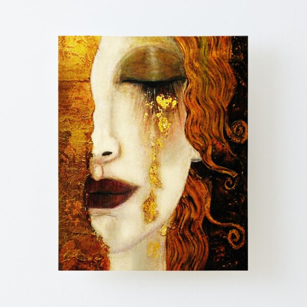 Klimt Golden Tears Canvas Mounted Print