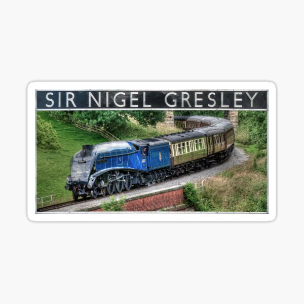 LNER Sir Nigel Gresley and Nameplate Sticker
