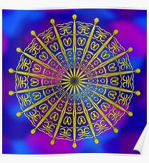 Golden Sky Symbols Poster