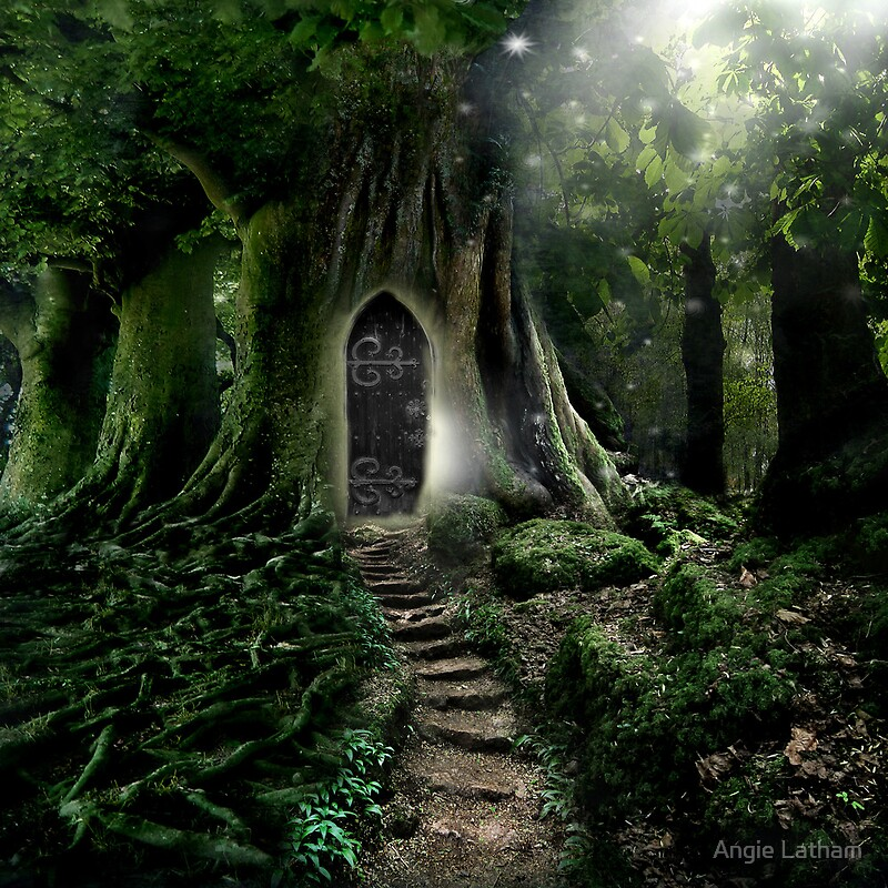 Doorway to lothlorien by angie latham redbubble for The magic fairy door