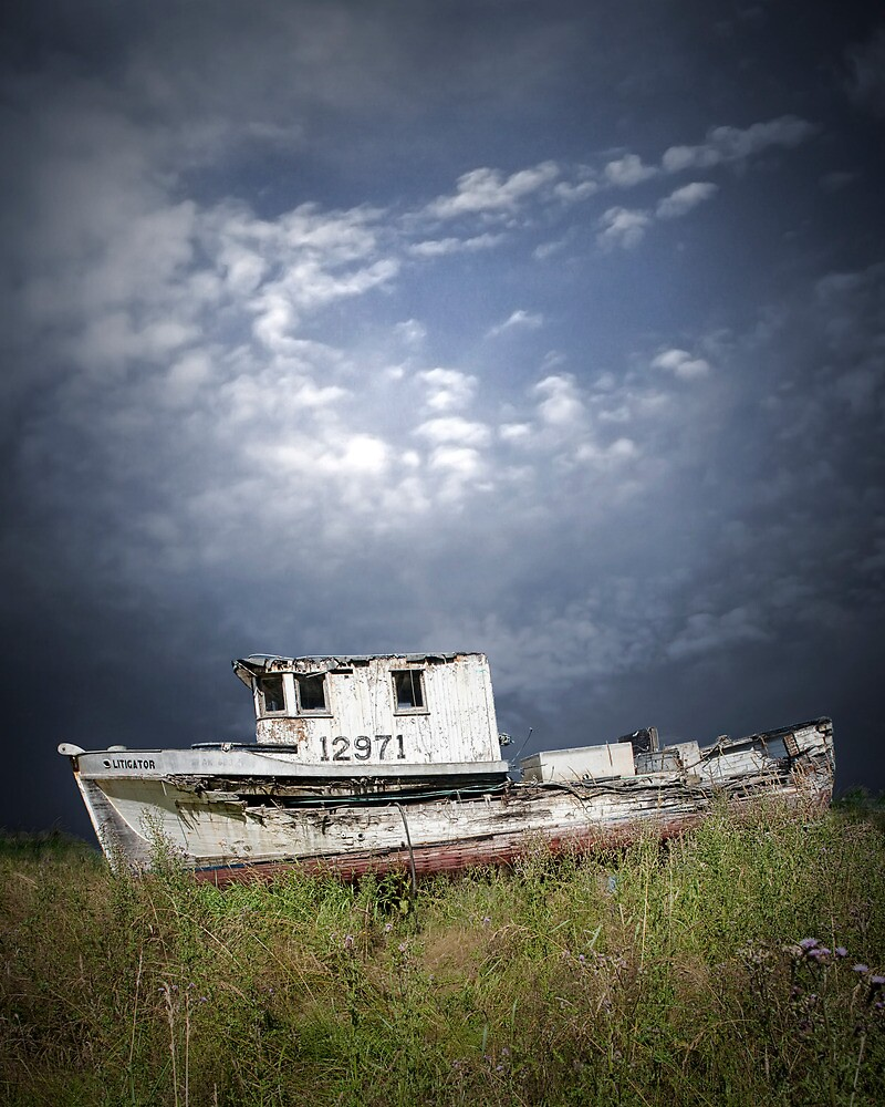 Abandoned Boat in Washington State by Randall Nyhof
