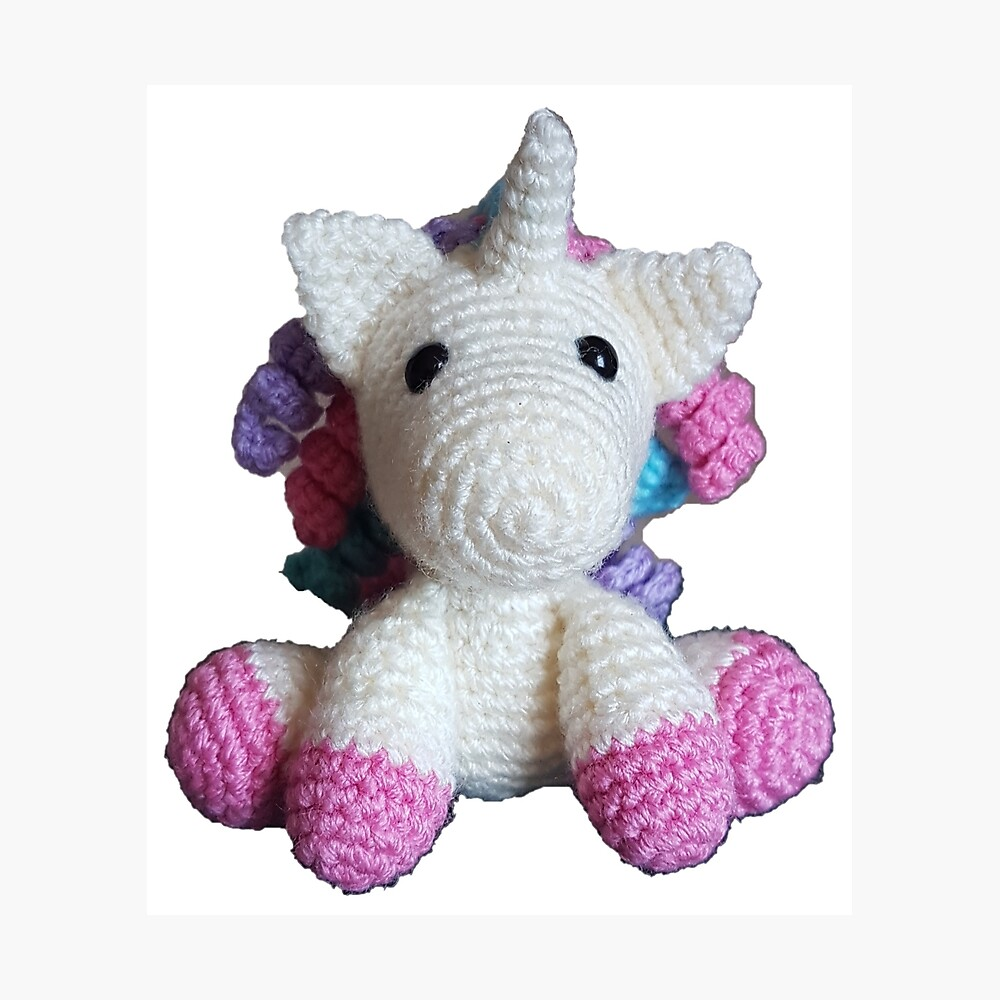 Unicorn Crochet Tutorial - IT'S SO FLUFFY! Amigurumi Step by Step ... | 1000x1000