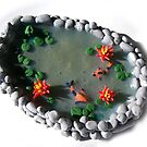 Miniature Koi Pond by Joann Barrack
