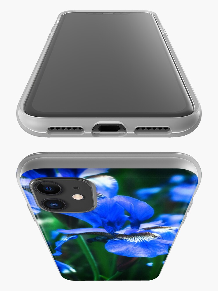 Alternate view of Blue Iris Flower - Art Photography iPhone Case & Cover