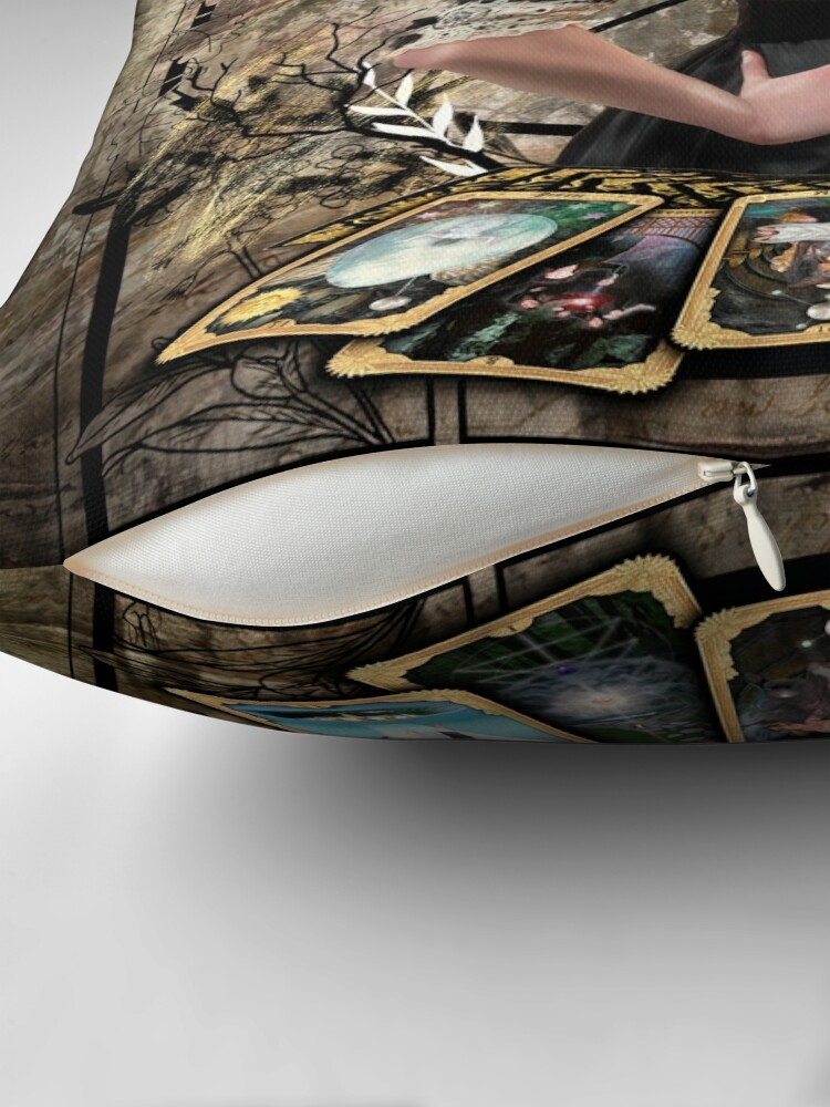 Alternate view of Vanessa Ives Tarot Edge - Penny Dreadful Floor Pillow
