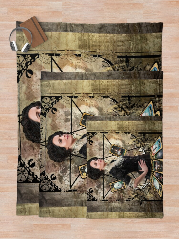 Alternate view of Vanessa Ives Tarot Edge - Penny Dreadful Throw Blanket