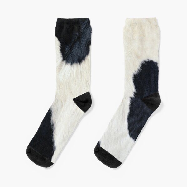 Cowhide Black and white Socks