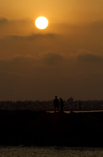 Lover's Sunset by Michael  Moss