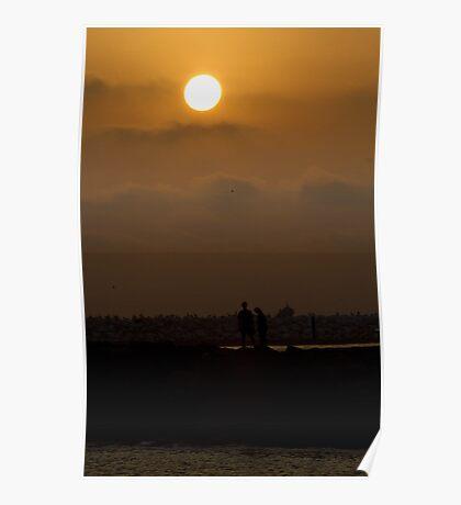 Lover's Sunset Poster