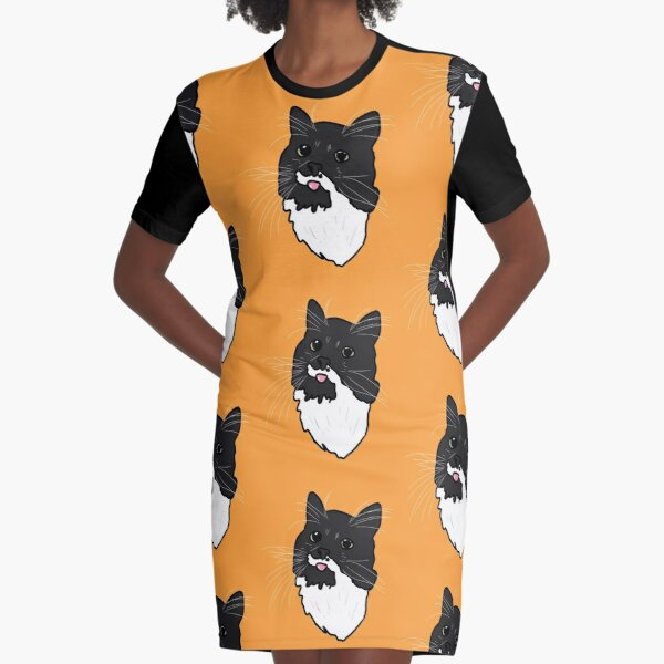 Belgian the cat Graphic T-Shirt Dress