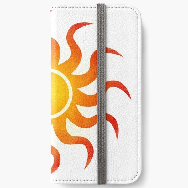 Sonniges Doodle iPhone Flip-Case