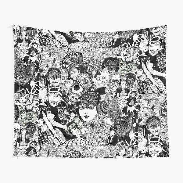 junji ito collage Tapestry