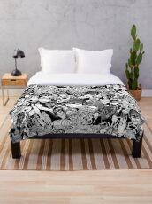 junji ito collage Throw Blanket