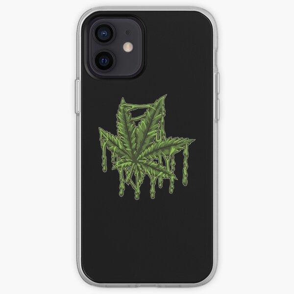 Melting Cannabis Leaf - Weed Marijuana THC CBD iPhone Soft Case