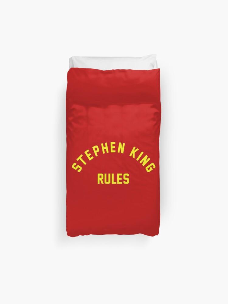 Stephen King Rules | Duvet Cover