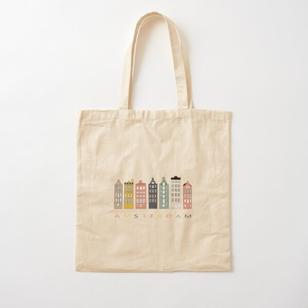 Amsterdam colorful canal houses Cotton Tote Bag