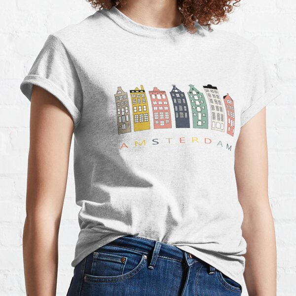 Amsterdam colorful canal houses Classic T-Shirt