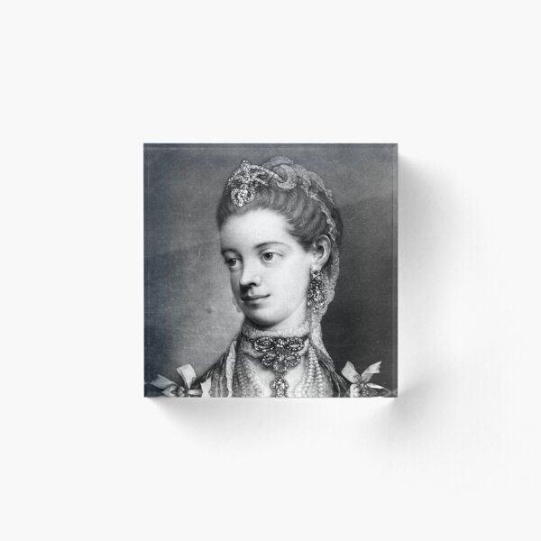 Her Most Excellent Majesty Charlotte, Queen of Great Britain - Thomas Frye - 1762 Acrylic Block
